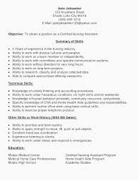 Nursing Assistant Resume Sample Entry Level Certified Nursing Cna