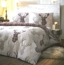 tartan stag natural duvet cover sets all sizes bed covers stage tesco urban loft waffle duvet cover