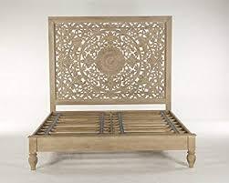 white washed mango wood. World Interiors Whitewashed Mango Wood King Bed White Washed E