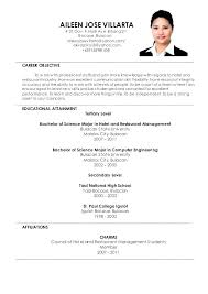 Restaurant Management Resume Examples Hotel And Restaurant ...