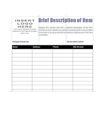 Silent Auction Bid Sheet Template Word Silent Auction Bid Sheet Template Free Word Printable Samples