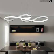 modern led chandelier dining room ceiling light acrylic pendant lamp lighting