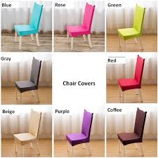4 pcs universal chair cover super elastic dinning chair cover office computer seat cover stoelhoes eetkamer