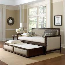 office with daybed. Grandover Wood \u0026 Upholstered Daybed Only In Cream / Espresso - With Optional Trundle Office H