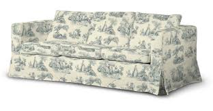 floor length karlanda 3 seater sofa cover in collection avinon fabric 132