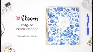 Bloom Daily Planners 2019 2020 Hard Cover Vision Planner Academic Year Daily Planner Walkthrough