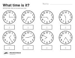 Printable Worksheet What Time Is It Printable Worksheet Telling time Free printable 1