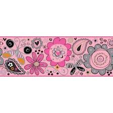 girls wallpaper border