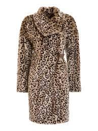 animal print eco fur coat sxoysq armani collezioni