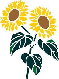 Sunflower Stencil Designs Sunflowers Graphic Three Size Choices Stencil Designs