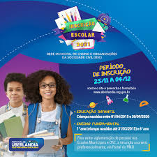 Inscrições para sistema educacional municipal se encontram abertas - Portal  da Prefeitura de Uberlândia