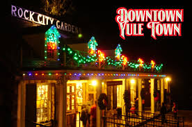 enchanted garden of lights pathway downtown yule town
