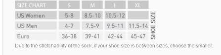 Euro Sock Men Women Size Chart Sturtevants