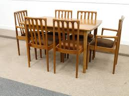 Retro Extending Dining Table Meredew Vintage Retro Teak Extending Dining Table And Six 4 2 Chairs