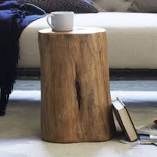Tree stump furniture Light Up Scroll To Previous Item West Elm Natural Tree Stump Side Table West Elm