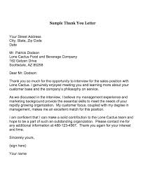 Thank You Letter After Interview Nursing Job Cover Letter
