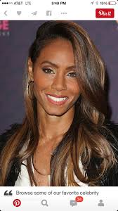 Jada Smith Highlights For Black Haircolor