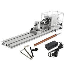 austock raitool 80w dc 24v mini lathe beads machine woodworking diy lathe standard set