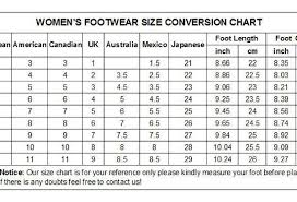 Women S Shoe Size Chart Mexico To Usa Best Picture Of