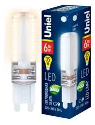 <b>Лампа</b> светодиодная <b>Uniel</b> UL-00010714, <b>G9</b>, <b>JCD</b>, 6Вт — купить ...