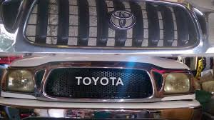2004 Toyota Tacoma Custom Grille Mod - YouTube