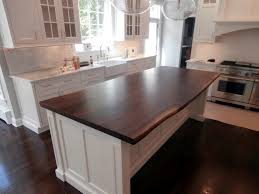 Wooden Kitchen Countertops Live Edge Wood Countertops Brooks Custom