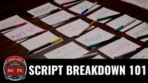 script breakdown sheet script breakdown 101 youtube