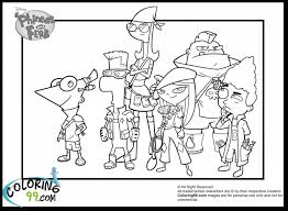 Small Picture Cute Phineas And Ferb Coloring Pages Phineas And Ferb Coloring
