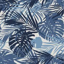 Bladeren Behang Blauw 96 X 280 Cm Klein En Stoer