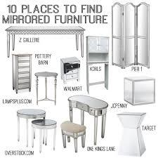 mirrored furniture decor. 10 sources for mirrored furniture decor l