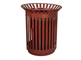 outdoor metal trash cans for parks