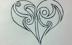 hand drawn cool hearts how to draw a tribal heart step 6 places cool designs trace75 cool