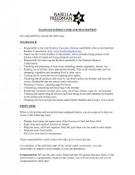 cover letter enchanting job description example cook saute cook job description chron mashgiach prep cook job what is the job description of a chef