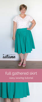 Simple Skirt Pattern With Elastic Waist New Design