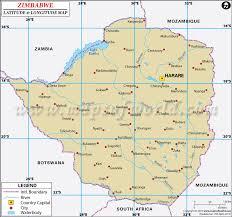 Zimbabwe Latitude and Longitude Map | UNESCO Africa | Pinterest ...