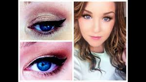 flattering blue eyes makeup tutorial how to make small look