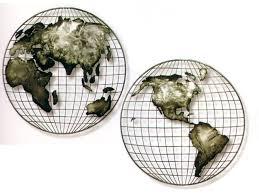 brushed steel wall map hemispheres brushed steel hemispheres