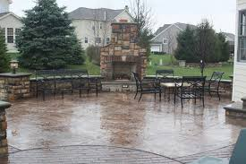 stamped concrete patio with fireplace. Stamped Concrete Patios Patio With Fireplace