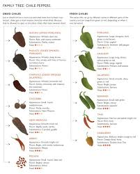 Pepper Chart 2017 The Chile Pepper Family Tree Stuffed Peppers Mexican Food
