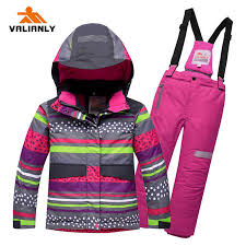 <b>2019 Kids Ski Suit</b> Ski Jacket + Strap Pants Winter Children Boys ...