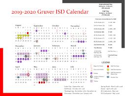 Printable Calendar Gruver Independent School District
