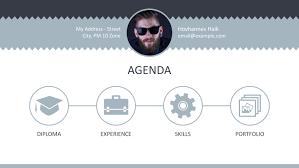 Resume Powerpoint Presentation Professional Curriculum Vitae Powerpoint Template