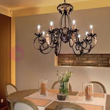 lucy chandelier 8 lights in wrought iron rustic floine