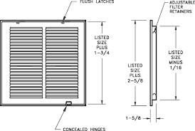Filter Grill Sizing Chart Submittals Specs Lima
