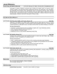 Auto Resume Writer Sample For Car Salesman Salesperson Sales 9