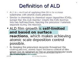1 Atomic Layer Deposition Ald 4 25 06 Ee