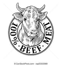beef cow head clip art. Delighful Beef Cows Head 100 Percent Beef Meat Lettering Vintage Vector Engraving On Cow Head Clip Art E