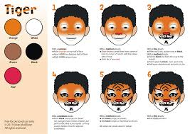 tiger face painting tutorial you