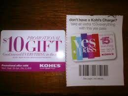 kohl s recently sent me a free 10 gift card in the mail in the photo on the left and i found this 15 off coupon in their ad this week that came