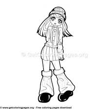 Anime Coloring Pages Easy Getcoloringpagesorg